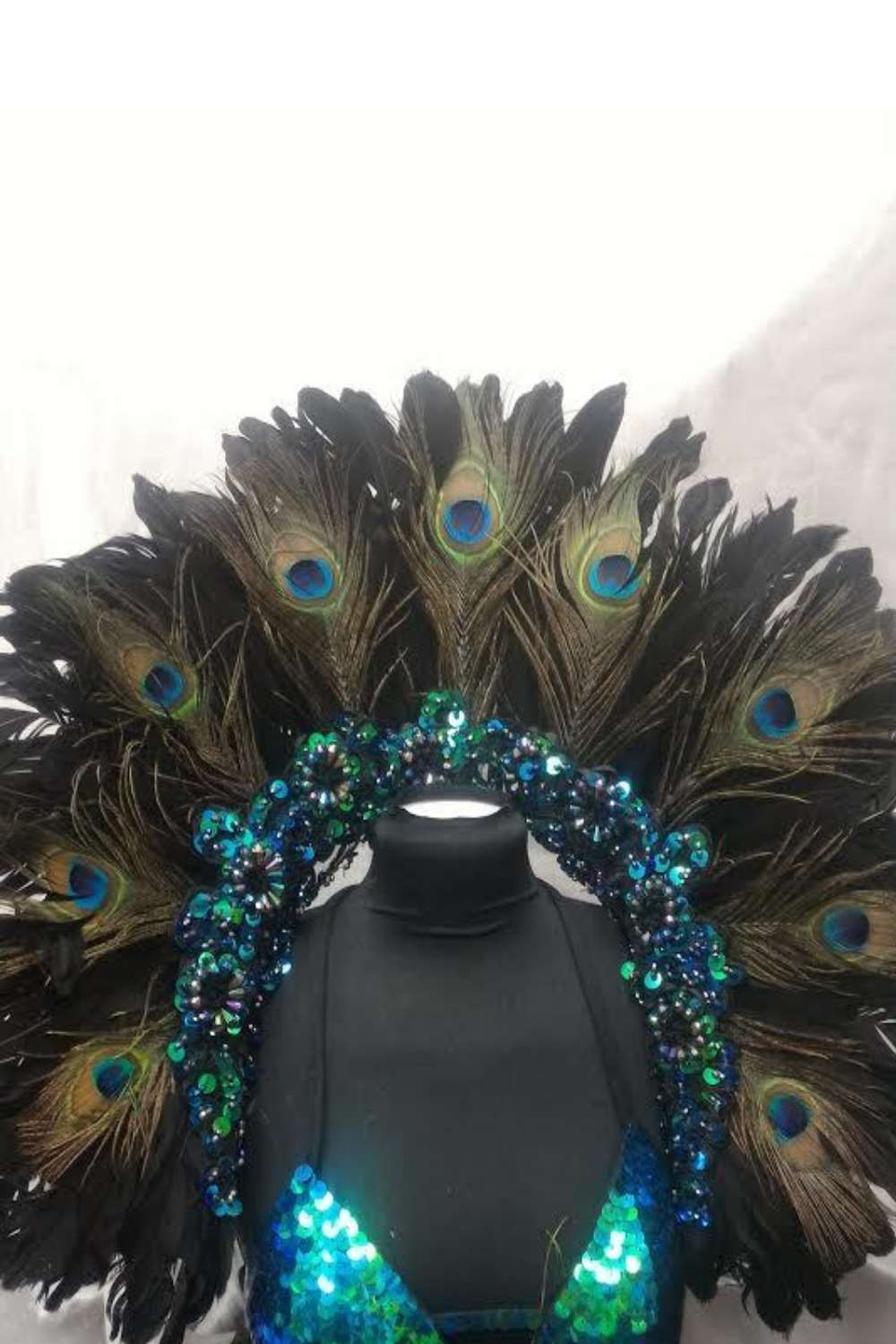 Peacock and Goose feather Backpack