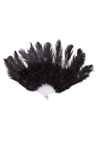 Small Ostrich Feathered Fan