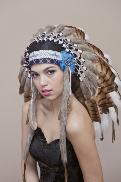 Pheasant Feather Indian Hat